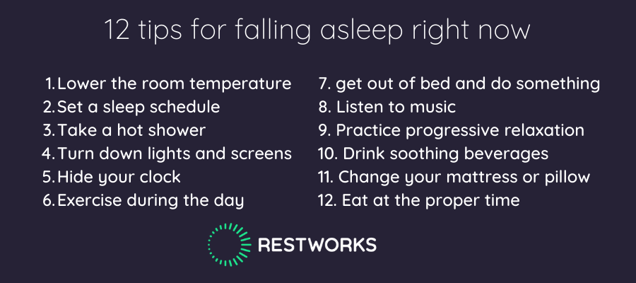 tips for falling asleep right now